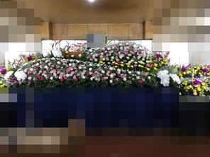 秋 生花祭壇